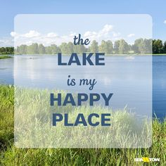 The #lake is my happy place. #seatow #boatquote