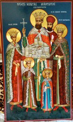 Brancoveni family Martyrs of Romania by Elena Cerasela Ciuca Orthodox Icons, Byzantine, Romania, Nostalgia, Saints, Christmas Ornaments, Holiday Decor, Anime, Painting