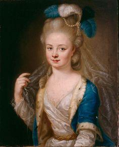 Heinrich Carl Brandt (1724-1787)— Portrait of  Pricess Maria Anna of Zweibrücken-Birkenfeld-Bischweiler    :  Kurpfälzisches Museum, Heidelberg.  Germany    (618×768)