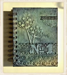 altered notebook. Great texture