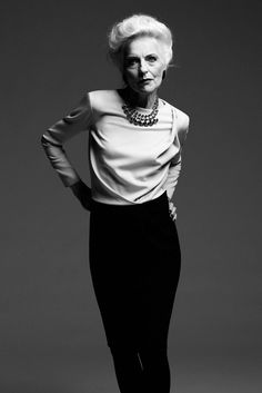 ANNA VON Ruden a silvered haired supermodel in her 60's changing the game