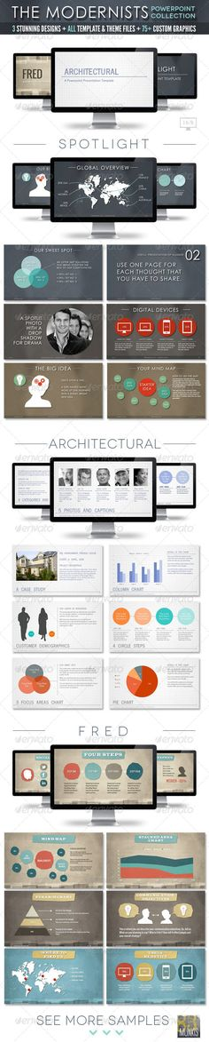 The Modernists Collection - Powerpoint Templates - Creative Powerpoint Templates