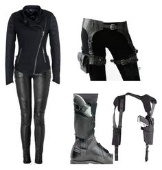 """Spy Outfit 3"" by thumperrabbit ❤ liked on Polyvore featuring Spy Optic, Holster and Denham"