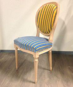 Chaise médaillon Louis XVI -  Jeu de rayures