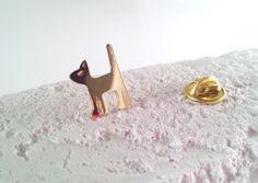 http://www.creema.jp/exhibits/show/id/473815 Little Kitten Brass Brooch !