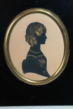 ANTIQUE SILHOUETTE WITH HAND PAINTED, GILDED DETAILS & ORIGINAL FRAME, C1820. | eBay