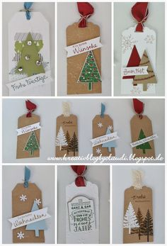 .    Kreativ Blog by Claudi: Tannenbaum-Tags