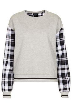 Check Sleeve Sweat - View All Sale - Sale & Offers