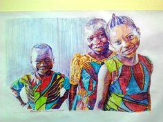 Siblings. Pen on paper