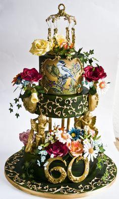 Nice work! ~ Hand painted baroque cake