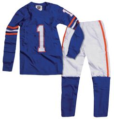 """Wes and Willy """"Number 1"""" Football Pajamas"""