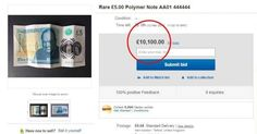 New rare £5 note has bids of more than £10,000 on eBay – here's why you need to check yours too