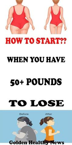 HOW TO START WHEN YOU HAVE 50 POUNDS TO LOSE