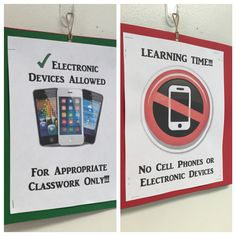 Cell phone classroom rule