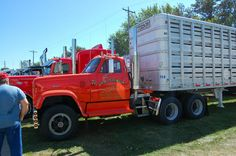 GMC vintage red commercial trucks