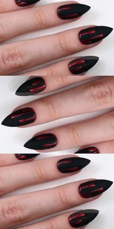 69 Easy Winter and Christmas Nail Ideas - Ankara Lovers Winter Nail Art, Autumn Nails, Winter Nails, Summer Nails, Coffin Nails, Acrylic Nails, Rose Nails, Trendy Nail Art, Natural Beauty Tips