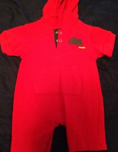 Boys Red Baby Gap Tractor Sweatshirt Romper Hoodie 3-6 Months Small Jumpsuit $9.99 #babygap #tractor #babyclothesforsale