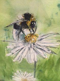 busy bee - Miranda Markham by MIRANDAWATERCOLOURS on Etsy