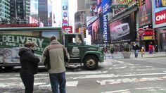 """A walk through Times Square in NYC. Fun to watch while reading """"A Cricket in TImes Square""""."""