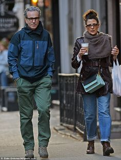 Power couple: Daniel Day-Lewis, 58, and his wife Rebecca Miller, 53, looked loved-up as ev...