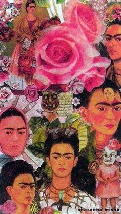 frida kahlo original collage light switch plate - handmade by sharonna misha just $18. via www.sharonna.etsy.com
