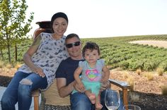 Wine tasting in California with our baby at Matchbook Winery.