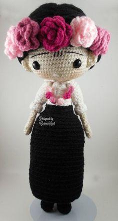FridaCarmen Amigurumi Doll Crochet Pattern PDF