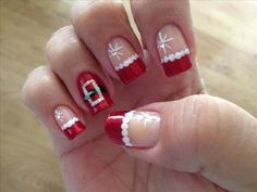 Collection Christmas Nail Art Designs Tree Snowman Santa 25 - Nails ツ Christmas Nail Art Designs, Holiday Nail Art, Winter Nail Designs, Christmas Design, Love Nails, How To Do Nails, Pretty Nails, Cute Christmas Nails, Xmas Nails