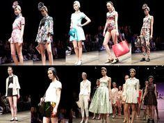 LAS PEPAS: colores pastel, blanco/negro, estampas tropicales, metalizados. Cinturas marcadas, detalles femeninos y tambien deportivos/casuales