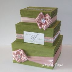 Wedding Card Box Bling Money Holder Custom By Laceyclairedesigns 144 00