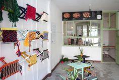 studio HVN opens the joy luck pie club for beijing design week 2014; my favorite part is the weaving