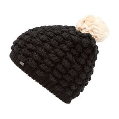 Superdry Women's Bobble Stitch Fur Pom Pom Hat ($25) ❤ liked on Polyvore featuring accessories, hats, pom beanie, fur hat, pompom hat, pom pom beanie hat and fur bobble hat