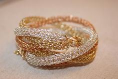 Triple Braided Woven Lace Bracelet by TanyaKaroonJewelry on Etsy