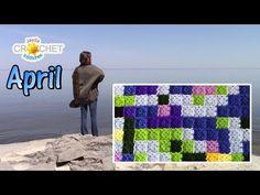 Join-As-You-Go Mini Granny Squares - Calendar Blanket Update - April - YouTube
