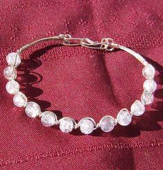 Crackled Bead Bracelet  Outstanding Lavender in by JewelryArtistry