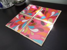 Shoply.com -Upcycled Ceramic Coasters in Retro Modern. Only $12.00