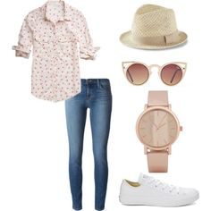 look de domingo! by thaisferreira-2 on Polyvore featuring polyvore fashion style maurices J Brand Converse ALDO Express
