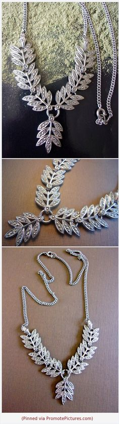 Marcasite Sterling Silver Drop Necklace, Leaf Motif, Vintage #necklace #sterlingsilver #marcasite #dropnecklace #leaves #vintage #floral https://www.etsy.com/RenaissanceFair/listing/578164352/marcasite-sterling-silver-drop-necklace?ref=listings_manager_grid  (Pinned using https://PromotePictures.com)