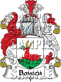Bowen Family Crest apparel, Bowen Coat of Arms gifts