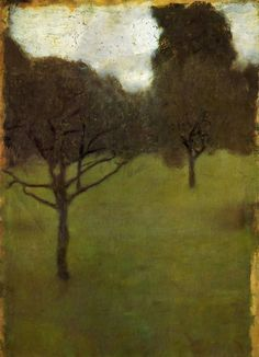 gustav klimt, orchard 1898