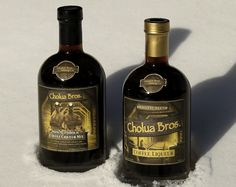 Just chillin our coffee liqueur and mix…we're going to celebrate! www.choluabros.com