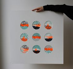 circle cut outs frame art illustration