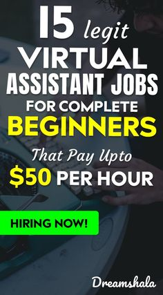 15 Legit Virtual Assistant Jobs For Complete Beginners That Pay Upto 50 Per Hour. Earn More Money, Earn Money From Home, Earn Money Online, Make Money Blogging, Way To Make Money, Money Tips, Online Income, Online Jobs, Application Utile