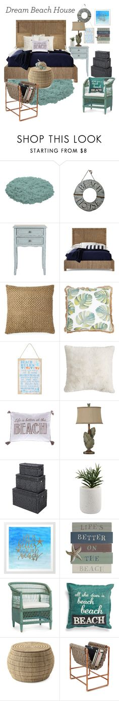 """""""My Dream Beach House"""" by kyrasfashion-looks ❤ liked on Polyvore featuring interior, interiors, interior design, home, home decor, interior decorating, Safavieh, Palecek, Ralph Lauren and M&Co"""