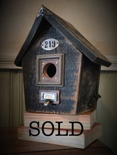 Poe House Birdhouse (One-of-a-kind) SOLD