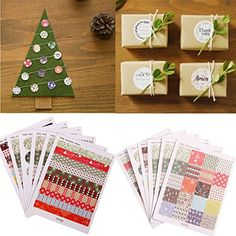 Bazaar 1 Set Floral Print Labels Stickers DIY Scrapbooking Paper Gift Decoration