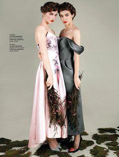 Rustic Femininity: Iulia Cirstea And Anka Kuryndina By Filippo Del Vita For The South China Morning Post Style!