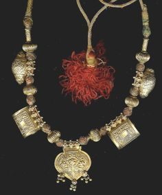 12 Karat gold necklace from Rajasthan. early 20th c. Posted by Linda Pastorino.