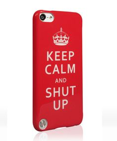 KeepCalm1 Rebelution StreetArt Series for iPod touch 5th Gen from UNIEA $24.95:  http://www.uniea.com/p/344/keep-calm-shut-up-ipod-touch-5-case-rebelution-streetart-series-keepcalm-1