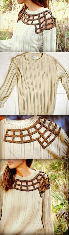 Easy DIY Cut-out Sweater (light sewing)